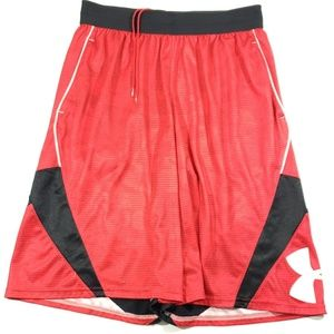 Under amrour boys size Large red white black short